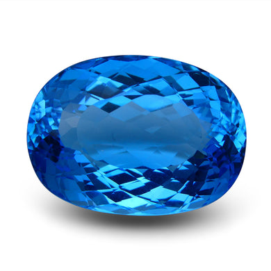 Swiss Blue Topaz 74.1 cts 27.62x20.47x15.03mm Oval Blue    $535