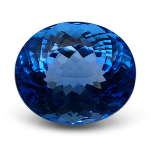 Swiss Blue Topaz 67.75 cts 24.59x21.20x15.95mm Oval Blue    $490