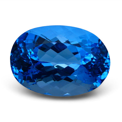 75.33 ct Oval Swiss Blue Topaz