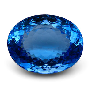 Swiss Blue Topaz 98.47 cts 30.17x23.55x16.00mm Oval Blue    $715