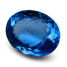 98.47 ct Oval Swiss Blue Topaz