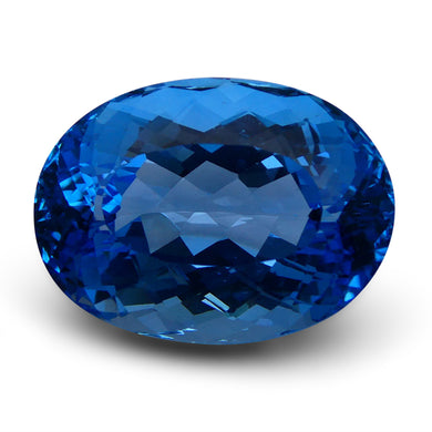 Swiss Blue Topaz 75.47 cts 27.82x20.52x16.23mm Oval Blue    $545