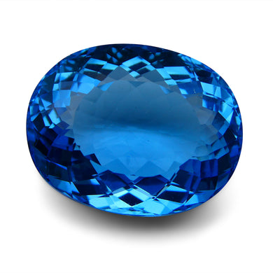 Swiss Blue Topaz 55.89 cts 25.33x20.01x12.75mm Oval Blue    $405