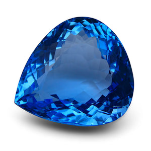 Swiss Blue Topaz 86 cts 28.56x26.04x15.07mm Pear Blue    $625