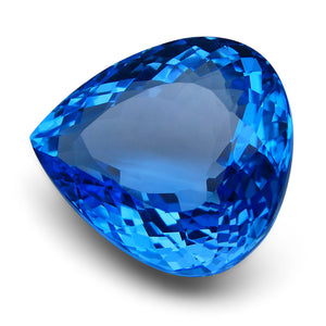 86.00 ct Pear Swiss Blue Topaz