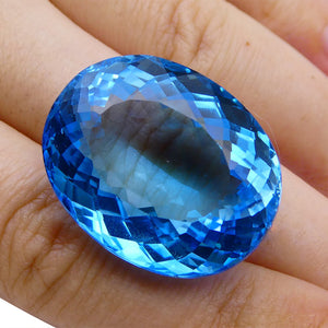 67.63 ct Oval Swiss Blue Topaz