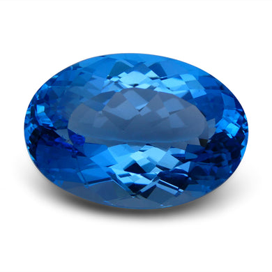 Swiss Blue Topaz 77.16 cts 31.15x21.52x14.72mm Oval Blue    $560