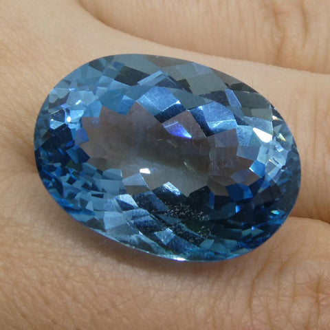 38.97 ct Oval Blue Topaz