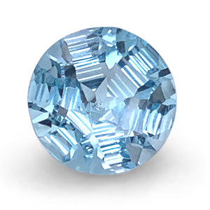 4.45ct Round Blue Topaz Fantasy/Fancy Cut - Skyjems Wholesale Gemstones