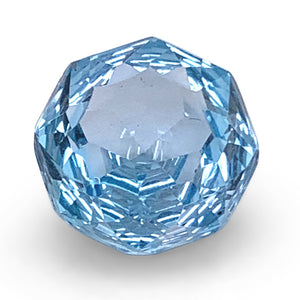 5.40ct Round Blue Topaz Fantasy/Fancy Cut - Skyjems Wholesale Gemstones