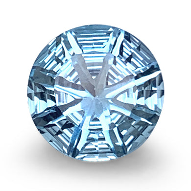 4.70ct Round Blue Topaz Fantasy/Fancy Cut - Skyjems Wholesale Gemstones