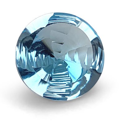 8.00ct Round Blue Topaz Fantasy/Fancy Cut - Skyjems Wholesale Gemstones