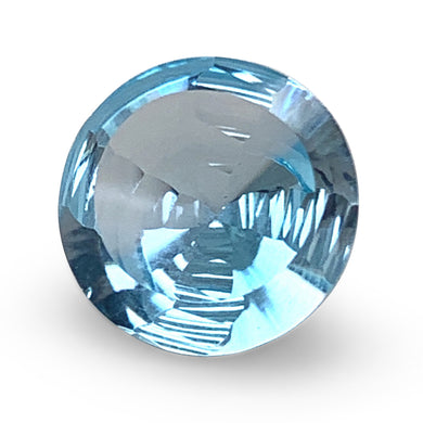 6.47ct Round Blue Topaz Fantasy/Fancy Cut - Skyjems Wholesale Gemstones