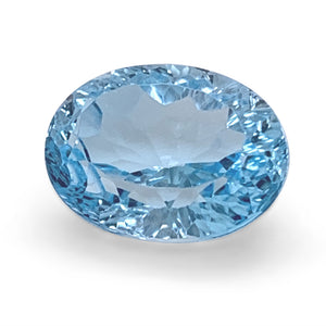 9.48ct Oval Blue Topaz Fantasy/Fancy Cut - Skyjems Wholesale Gemstones