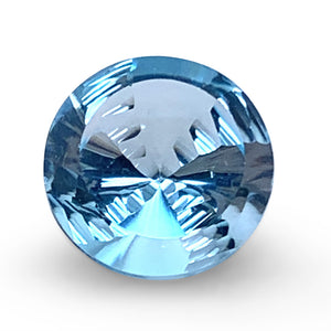 7.10ct Round Blue Topaz Fantasy/Fancy Cut - Skyjems Wholesale Gemstones