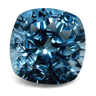 7.45ct Cushion Blue Topaz Fantasy/Fancy Cut - Skyjems Wholesale Gemstones