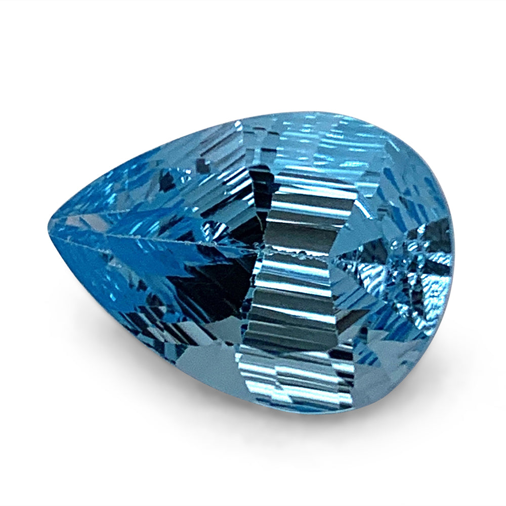 8.10ct Pear Blue Topaz Fantasy/Fancy Cut