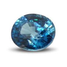 2.74 ct Oval Blue Zircon