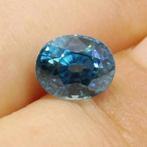 3.27 ct Oval Blue Zircon
