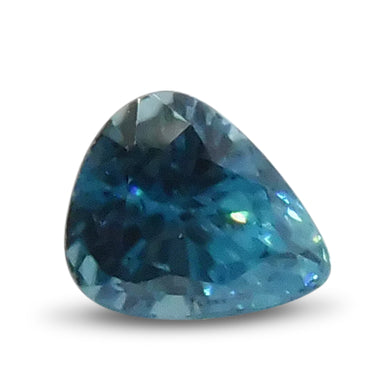 2.95 ct Pear Blue Zircon