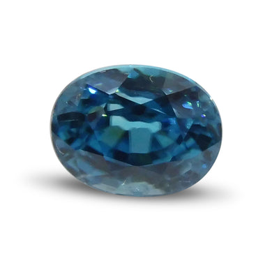 3.41 ct Oval Blue Zircon - Skyjems Wholesale Gemstones