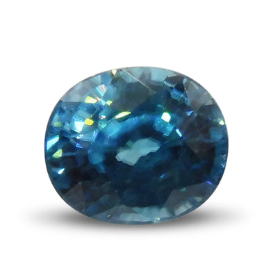 3.47 ct Oval Blue Zircon