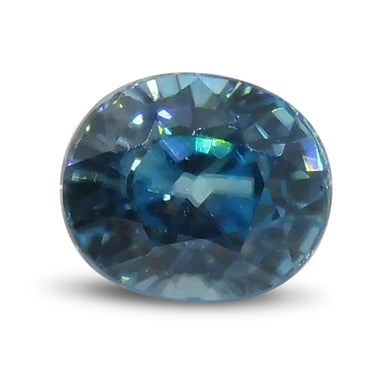 2.70 ct Oval Blue Zircon - Skyjems Wholesale Gemstones