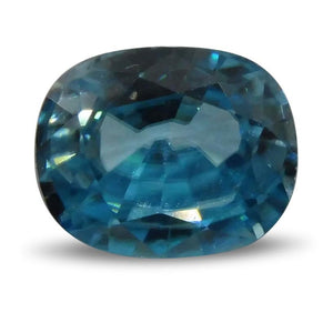 Blue Zircon 4.65cts 10.56x7.91x5.30mm Oval Blue $350