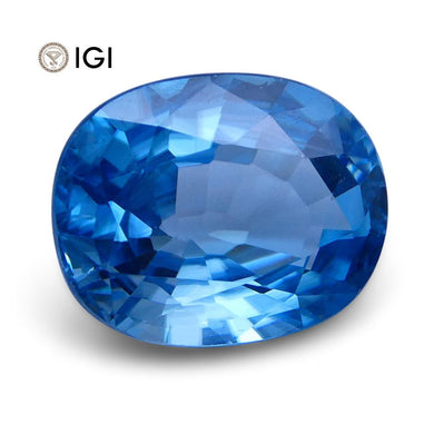 4.71 ct Oval Blue Natural Zircon IGI Certified - Skyjems Wholesale Gemstones
