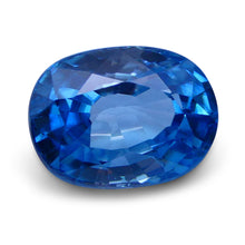 4.50 ct Oval Blue Zircon IGI Certified With Laser Inscription