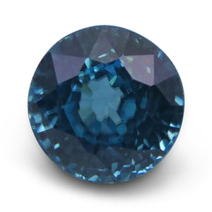 Blue Zircon 4.57 cts 8.34 - 8.24x6.29mm Round Blue  $390