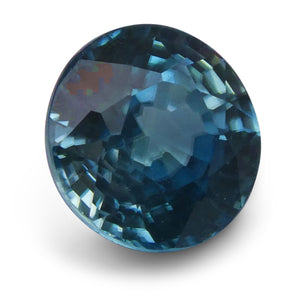 3.28 ct Round Blue Zircon