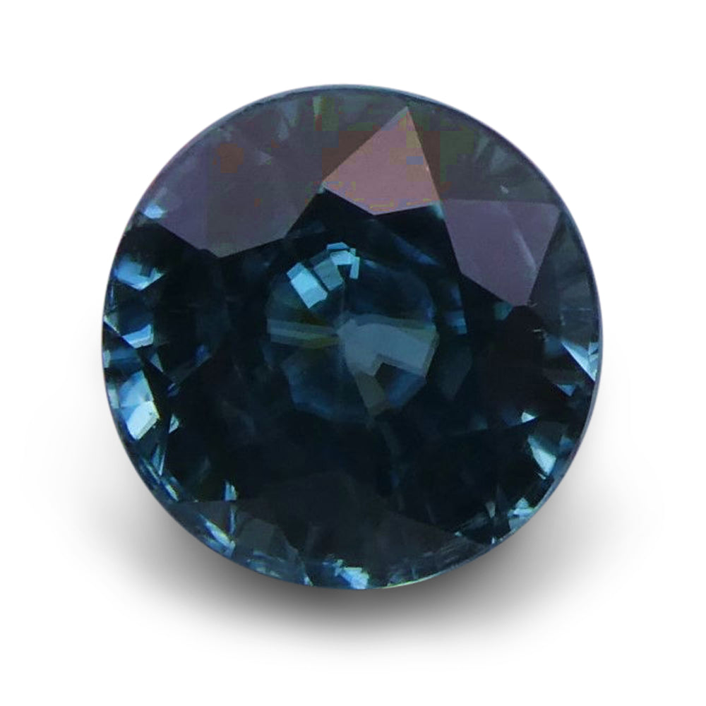Blue Zircon 3.21 cts 7.49 - 7.48x5.48mm Round Blue  $270