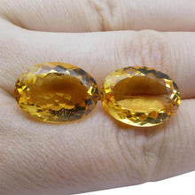 17.24 ct Pair Oval Citrine