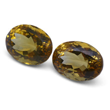 12.38 ct Pair Oval Citrine