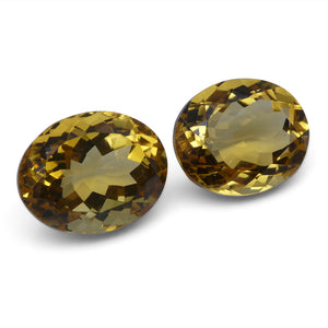 10.42 ct Pair Oval Citrine