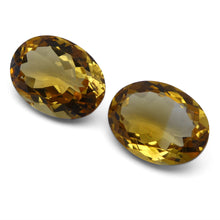 8.65 ct Pair Oval Citrine