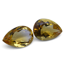 10.20 ct Pair Pear Citrine