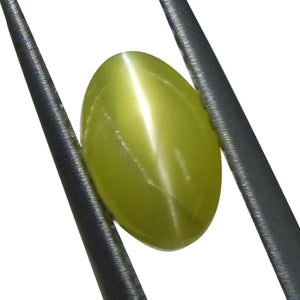 1.82 ct Oval Chrysoberyl Cat's Eye