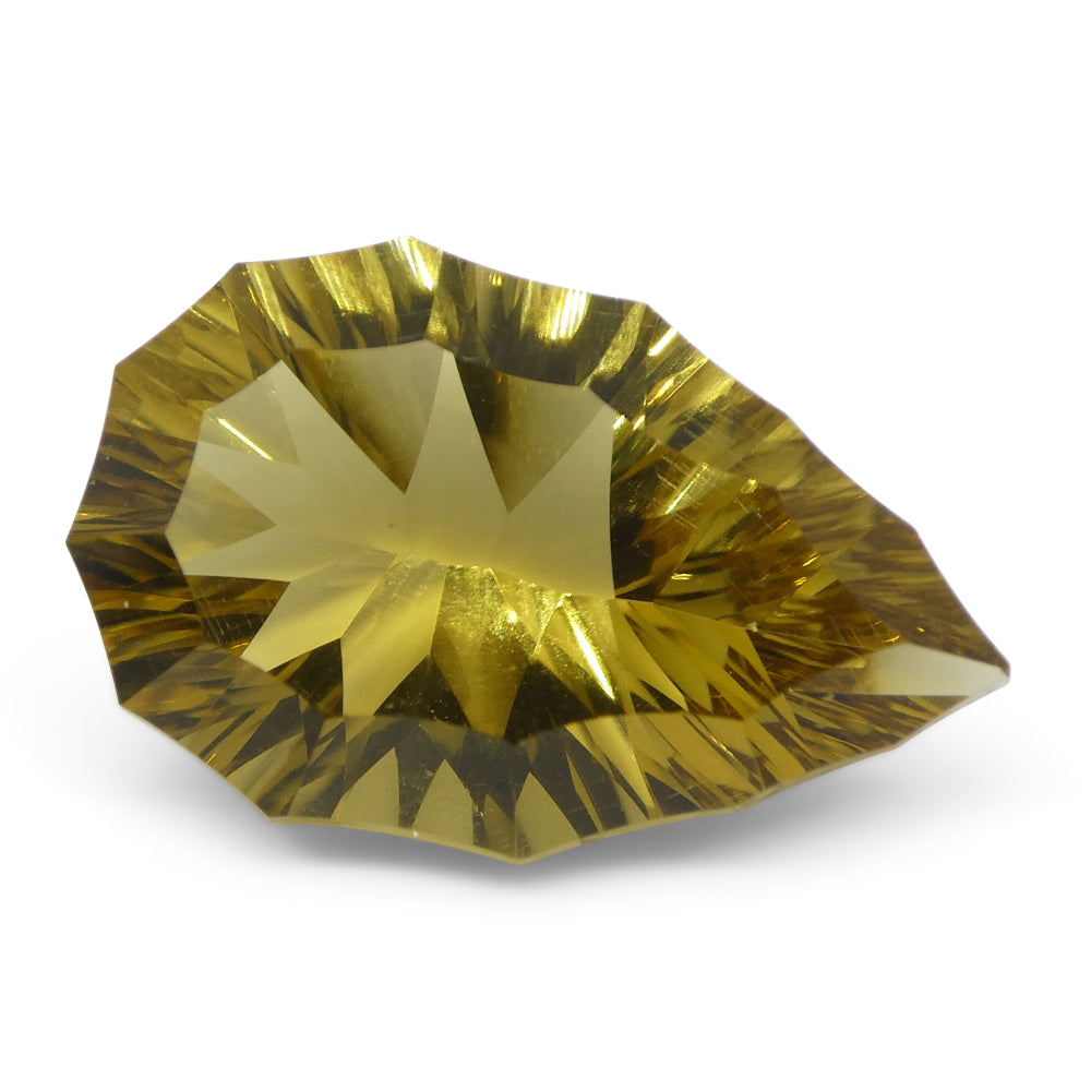 6.22ct Pear Citrine Fantasy/Fancy Cut