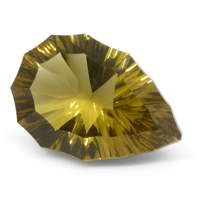 7.48ct Pear Citrine Fantasy/Fancy Cut - Skyjems Wholesale Gemstones