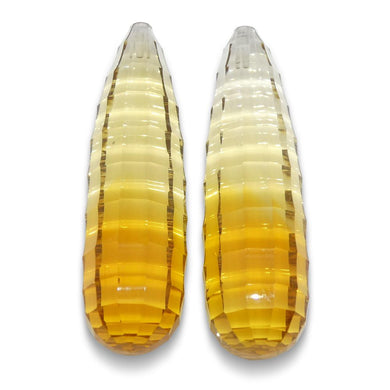 Citrine 45.27 cts 34x9.55mmmm Briolette Yellow  $680