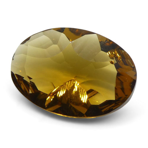 3.42ct Oval Citrine Fantasy/Fancy Cut