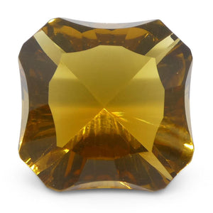 6.55ct Square Citrine Fantasy/Fancy Cut - Skyjems Wholesale Gemstones