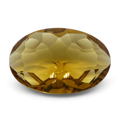 3.62ct Oval Citrine Fantasy/Fancy Cut - Skyjems Wholesale Gemstones