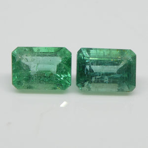2.58ct Emerald Pair Emerald Cut - Skyjems Wholesale Gemstones