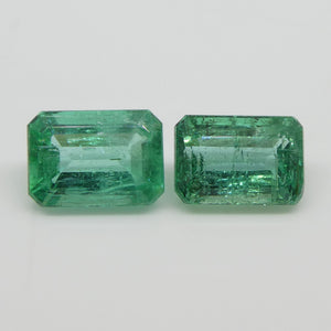 2.22ct Emerald Pair Emerald Cut - Skyjems Wholesale Gemstones