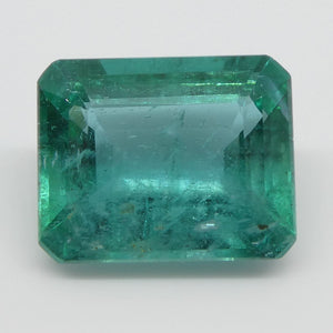 Emerald 3.17cts 10.12x8.16x5.01mm Emerald Cut slightly bluish Green $960
