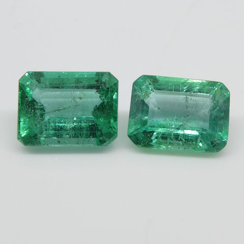 3.33ct Emerald Pair Emerald Cut