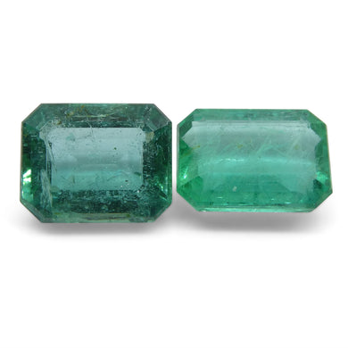 4.2ct Emerald Pair Emerald Cut - Skyjems Wholesale Gemstones
